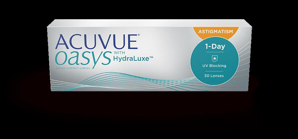 Lentillas Diarias ACUVUE® OASYS 1-Day para ASTIGMATISMO con tecnología HydraLuxe™